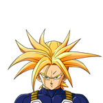 Trunks (Long Hair) SSJ render [DBZ Kakarot]