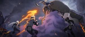 Hanzo vs Legendary Sannins [Naruto Mobile]