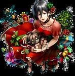 Mikasa (Christmas) render [AoT TACTICS]