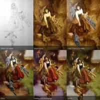 Classical Painting Tutorial 01 - Padma by Lasarasu