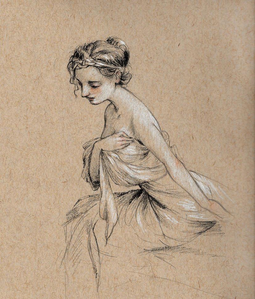 Sketch of a Woman by Lasarasu