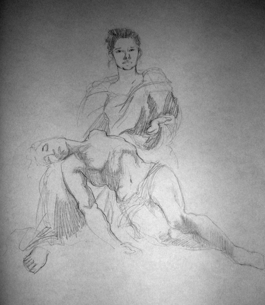 Pieta Study by AgarthanGuide