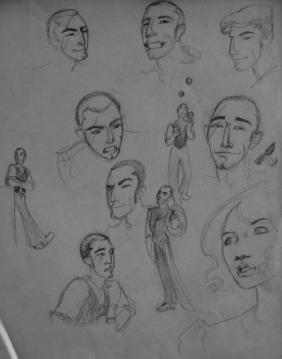 Circus People Sketch Dump by AgarthanGuide