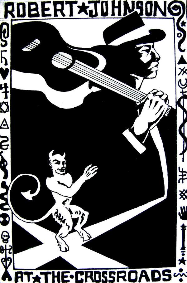 Robert Johnson Postcard by AgarthanGuide