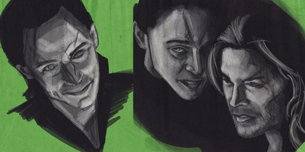 Two Loki Sketches by AgarthanGuide
