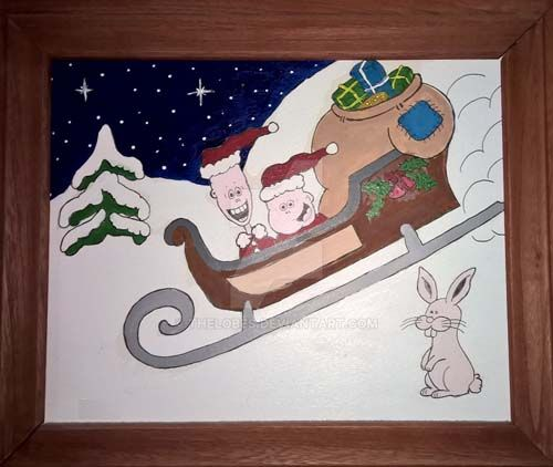 boys lended Santas sled by TheLobes