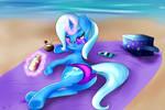 Trixie's Beach Day