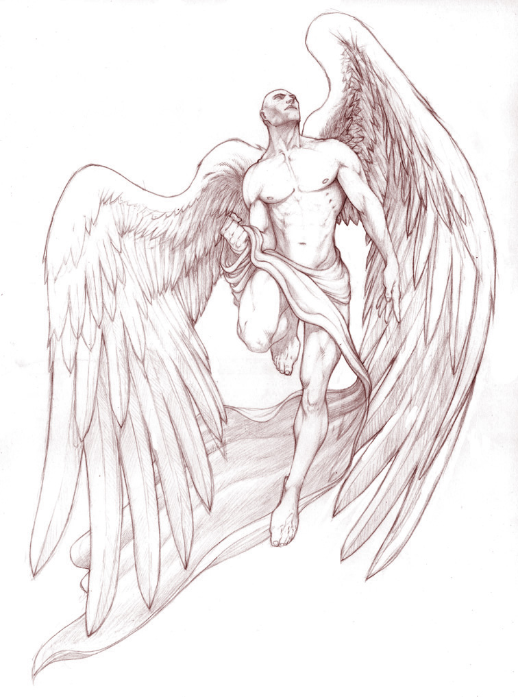 angel tattoo by gregory titus on deviantart. Black Bedroom Furniture Sets. Home Design Ideas