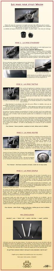 Comparaison des mines de stylet Wacom - Francais