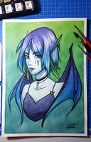 Vamp (watercolor) by Lily-Fu