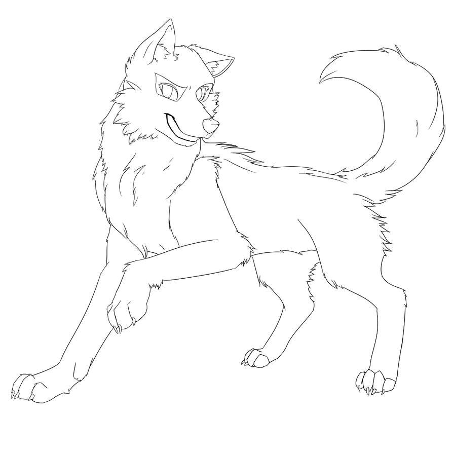 Line Art Wolf : Wolf lineart