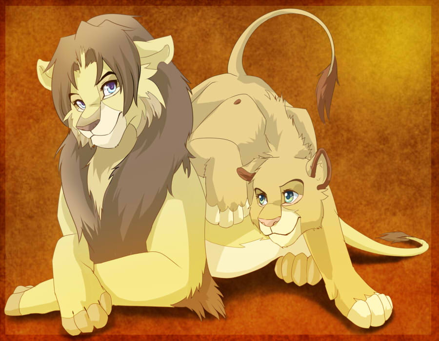 Lion king Tsume and link by HylianGuardians