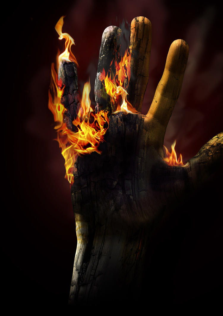 Flaming fingertips by PhilipHolm
