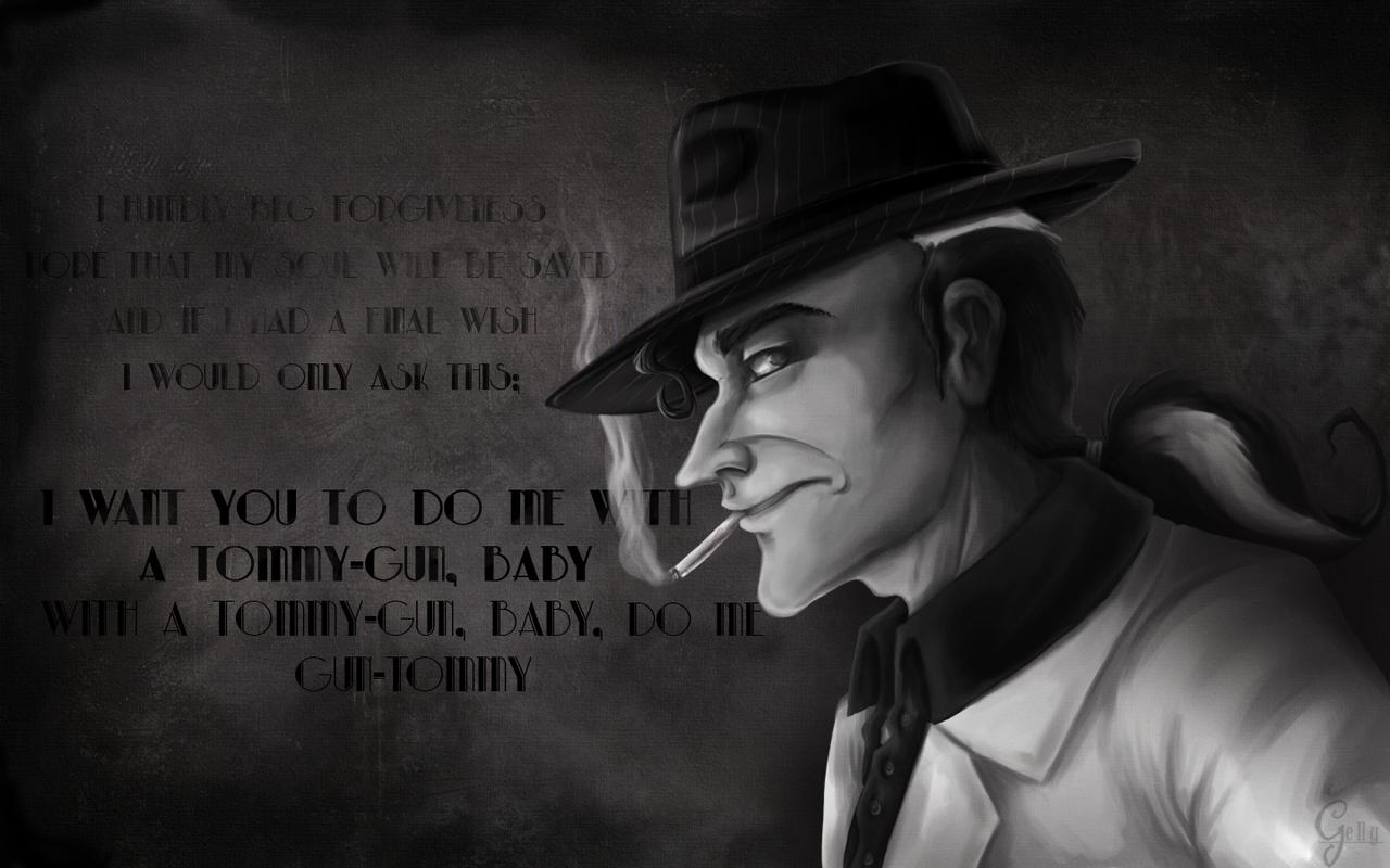 Tommy-Gun Noire by Gellyh