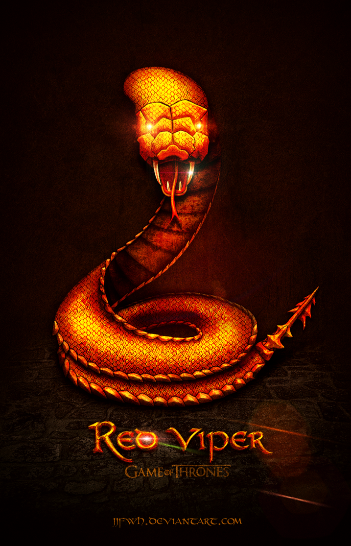 game of thrones red viper by jjfwh on deviantart