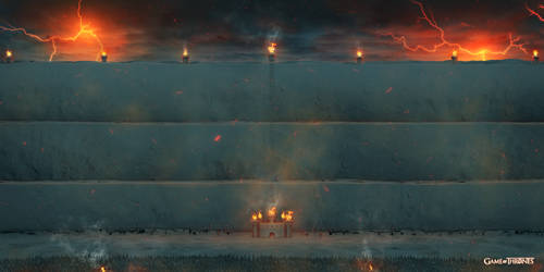 Game of throne The Wall fire version