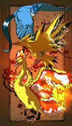 Legendary birds by RatShadows