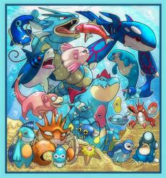 Water Pokemon 1 by RatShadows