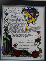 Maleficent Scroll for a Countess