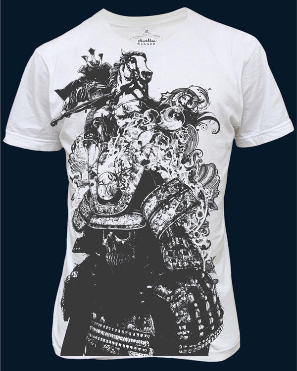 Samurai t shirt design by chadlonius on deviantart for How to put designs on t shirts