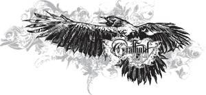 Crows flight t-shirt design