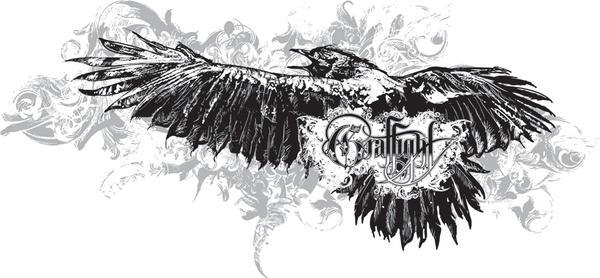 Crows flight t-shirt design by chadlonius