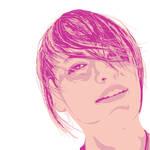Vector portrait of Ashton