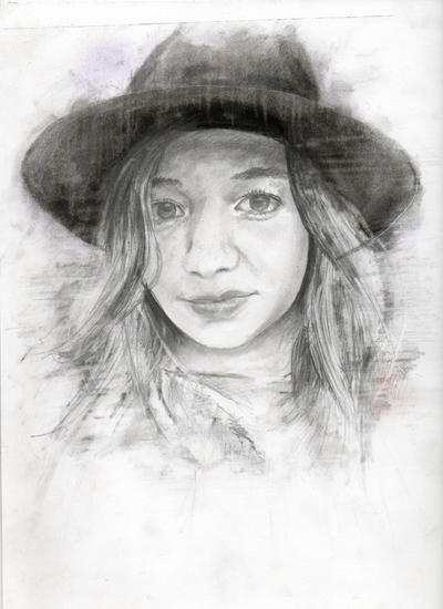 Emily Pencil Drawing by chadlonius