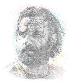 Rick Grimes Vector portrait