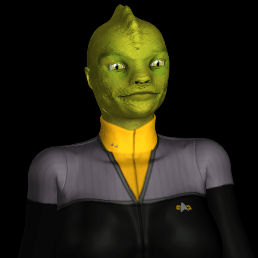 Star Trek DS9 ops Gorn