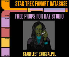 [Free Prop] Starfleet Exoscalpel for Daz Studio by MurbyTrek