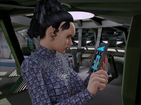 [Free Prop] Romulan PADD for Daz and Poser