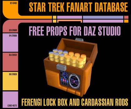 [Free Prop] Ferengi Lock Box and Cardassian Rods
