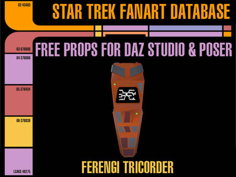 [Free Prop] Ferengi Tricorder for Daz and Poser