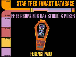 [Free Prop] Ferengi Padd for Daz and Poser by MurbyTrek