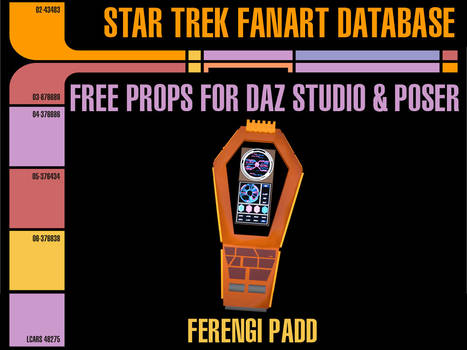 [Free Prop] Ferengi Padd for Daz and Poser