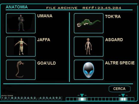 Stargate Command Xenobiology Database