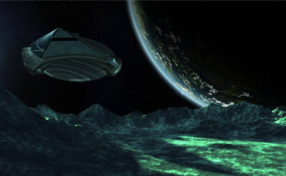 Al'kesh landing on asteroid surface