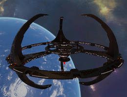 Terok Nor orbiting Bajor