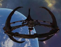 Terok Nor orbiting Bajor