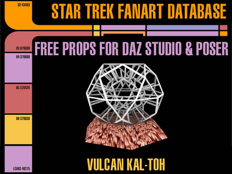 [Free Prop] Vulcan Kal-toh for Daz and Poser