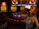 Klingon female drinking by MurbyTrek