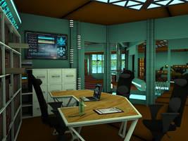 Stargate Atlantis: Office by MurbyTrek