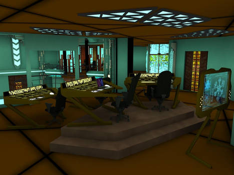 Stargate Atlantis: Control Room with laptop