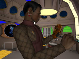 [Free Prop] Bajoran Tricorder for Daz and Poser by MurbyTrek
