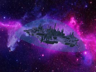 Stargate Atlantis in space