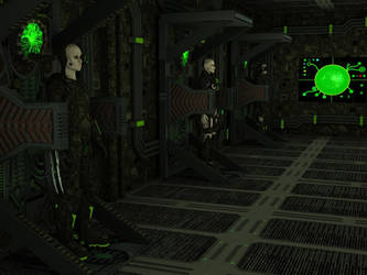 Drones Borg regenerating in Alcoves