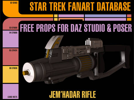 [Free Prop] Jem'HadarRifle for Daz and Poser