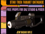 [Free Prop] Jem'HadarRifle for Daz and Poser by MurbyTrek
