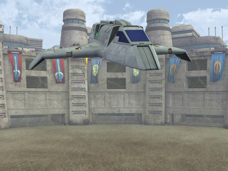 Bajoran Raider landing